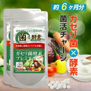 ◆ガセリ菌 酵素プレミアム (約半年分) 180粒◆[メール便対応商品]ガセリ菌 酵素 乳酸菌 サプリ ダイエット時の栄養補給にprbs