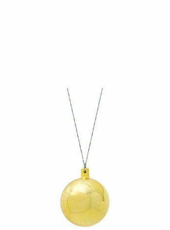 【クリスマス・装飾・カラフルボール】60mmメタリックユニボール・ゴールド6ケ入り