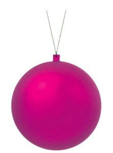 【クリスマス・装飾・カラフルボール】200mmフロストユニボール・フロストホットピンク1ケ入り