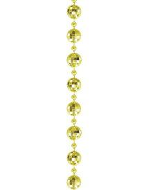 【クリスマス・装飾・オーナメント・デコレーションガーランド】ダイヤカットガーランド(S)(1本/パック)ゴールド
