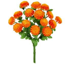 【造花 ・夏の造花 ・マリーゴールド】マリーゴールドブッシュ x 15・オレンジ