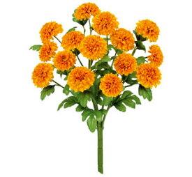 【造花 ・夏の造花 ・マリーゴールド】マリーゴールドブッシュ x 15・イエローオレンジ