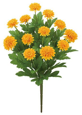 【造花 ・夏の造花 ・マリーゴールド】フレンチマリーゴールドブッシュ x 12・ゴールドイエロー