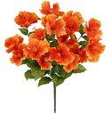 【造花 ・夏の造花 ・ハイビスカス】トロピカルハイビスカスブッシュ・オレンジ