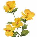 【造花 ・夏の造花 ・ハイビスカス】トロピカルハイビスカス・イエロー