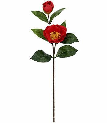 【造花・春の造花・桃】プレミアム椿スプレイ