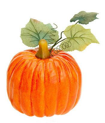 【造花・観葉・秋の造花・枝・秋色・食品サンプル・かぼちゃ・南瓜】オハイオパンプキン(S)(BC付)