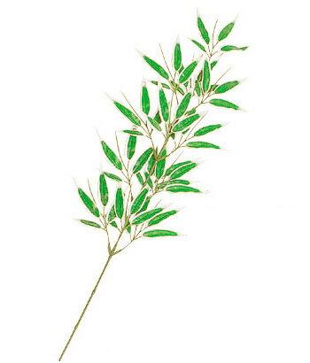 【造花・笹・竹・バンブー・七夕】58cmバンブースプレイグリーンホワイト