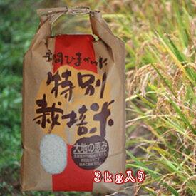 【送料無料】白米/玄米2019年度新米無農薬特別栽培米「天の川」3kg入り代引き不可