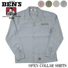 BEN DAVIS ベンデイビス オープンカラー 長袖シャツ T-8380022
