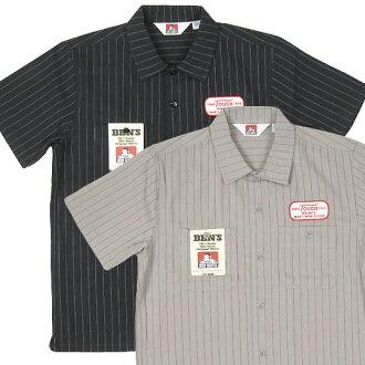 本 · 戴维斯和 Ben Davis 软木条纹短袖衬衫