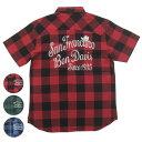 BEN DAVIS ベンデイビス バッファローチェック 半袖ワークシャツ T-7580004