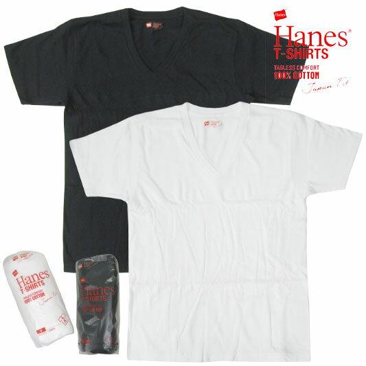HANES ヘインズ ジャパンフィット VネックTシャツ 2枚組 2015SS H5115