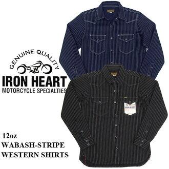 铁铁心 12 盎司沃巴什条纹西方衫 IHSH 62 的心 (男装、 毛条、 长套筒、 长袖 t 恤和 workshirt)