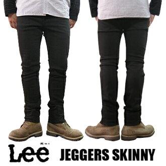 Lee Lee JEGGERS SKINNY メンズジェガーズストレッチスキニーブラックデニムレギンス LM0303-175