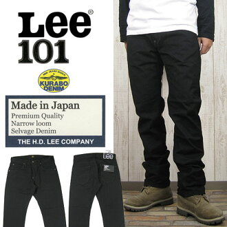 Lee 101 Project kurabo co. made ブラックセルビッジ denim Tight Narrow LM9605-201 ( men/bottoms/jeans/Lee/slim )