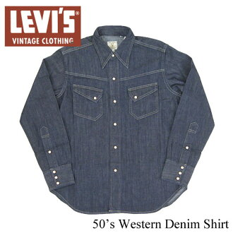 Levi's vintage clothing 1950 s denim Western shirt rinse Turkey-made LEVI's VINTAGE CLOTHING 67702-001 (men's / tops / long sleeve / long-sleeved shirt and denim location)