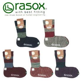 rasox ラソックス DRミックス クルー丈ソックス L字型ソックス CA090CR10