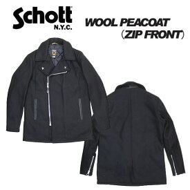 Schott ショット 769 ウール Pコート ジップフロント