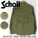 Schott ショット MILITARY SHIRT HEART BRAKER SH-3165039【送料無料】【smtb-td】「メンズ/トップス/長袖/シャ...