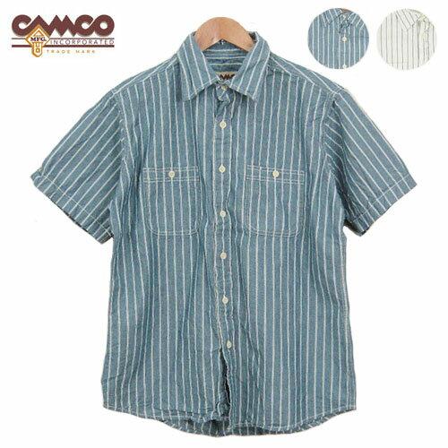 CAMCO カムコ シャンブレー ストライプ 半袖シャツ