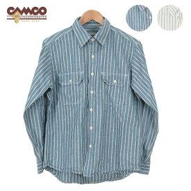 CAMCO カムコ シャンブレー ストライプ 長袖シャツ