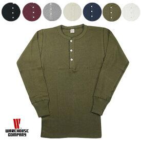WAREHOUSE ウエアハウス Lot.5904 4本針ヘンリーネックサーマル長袖Tシャツ THERMAL HENLEY NECK TEE