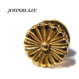 菊 菊紋 菊御紋 菊花紋章 愛国 靖国神社 大日本帝国 ピンバッジ ラペルピン 真鍮製ゴールドプレーテッド加工