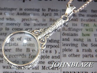 Loupe magnifying glass pendant made of Silver 925