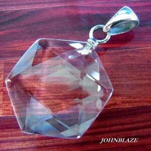 天然石 六芒星 本水晶 クリスタル シルバー925製 ペンダントトップ 6角形 六角形 調和 統合 ハニカム構造 パワーストーン シルバーアクセ メンズ レディース 男女兼用 おしゃれ ギフト プレゼ
