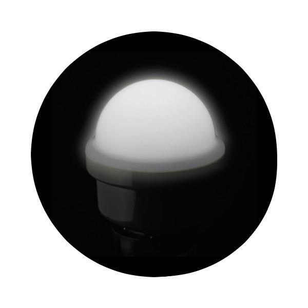 JEFCOM ジェフコム/DENSAN デンサンLEDサイン球(散光タイプ) ホワイトP18SW-E2601-W【当店はジェフコム正規取扱店です】
