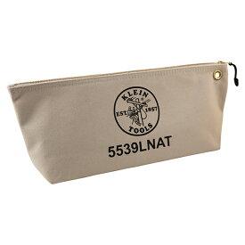 KLEIN TOOLS・クラインツールズ キャンバスジッパーバッグ L ナチュラル 5539LNAT