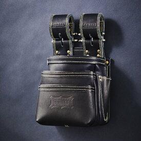 【後払い不可】【送料無料】【あす楽対応】【代金引換不可】KNICKS・ニックス 腰袋最高級硬式グローブ革チェーンタイプ3段腰袋 ブラック 腰袋 KGB-301DDX