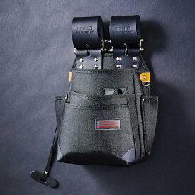 【メーカー欠品 納期未定】【送料無料】【代金引換不可】【後払い不可】KNICKS・ニックス チェーン式特殊ナイロン製腰袋 自在型 ブラック KB-212NSDX