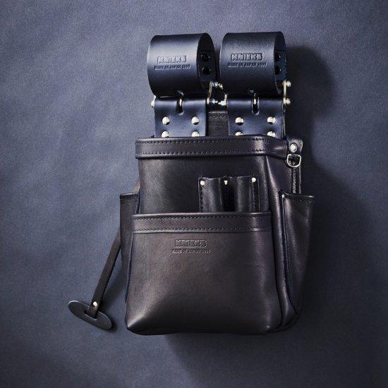 【送料無料】KNICKS/ニックス 自在型チェーンタイプ総グローブ革2段腰袋 KB-201SPDX