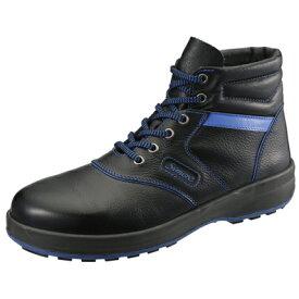 【送料無料】SIMON・シモン 安全靴 編上靴 SL22-BL黒/ブルー 24.0cm 1700250