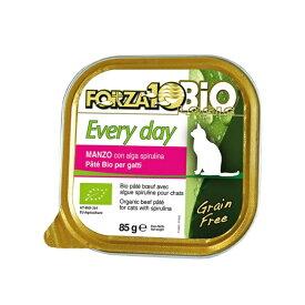 フォルツァ10/FORZA10 エブリデイビオ(ビーフ)缶 オーガニックキャットウェットフードフォルツア85g【あす楽対応】