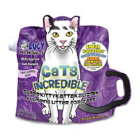 [消臭 脱臭] ルーシーペットプロダクツ キャットインクレディブル ラベンダー 6.35kg <猫砂> 鉱物 ベントナイト 固まる 砂ほこりカット アンモニアを発生させない 猫 トイレ ネコ砂 【あす楽対応】