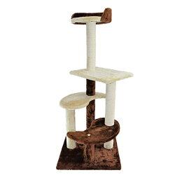 【おもちゃ猫用】トイホリックToyHolicわくわくプレイポールLモカベージュブラウン爪とぎキャットタワー