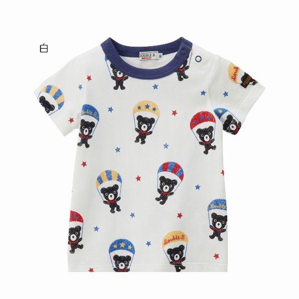 ミキハウス ダブルB(DOUBLE.B) パラシュート柄半袖Tシャツ(120、130)