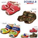 ミキハウス ダブルB(DOUBLE.B) ダブルベルト!ダブルラッセル素材のベビーサンダル(子供靴)