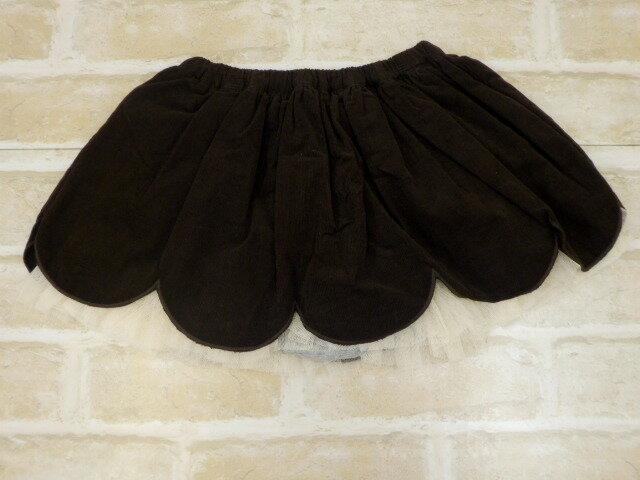 【2018秋冬】KP(ニットプランナー) コーデュロイスカラップデザインのブルマ付きスカート(90cm)
