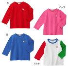 ホットビスケッツ(HOTBISCUITS)ワンポイント刺繍のシンプル長袖Tシャツ