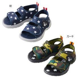ミキハウス ダブルB(DOUBLE.B)  ジャージ素材のソフトフィットサンダル(箱無し)(子供靴)