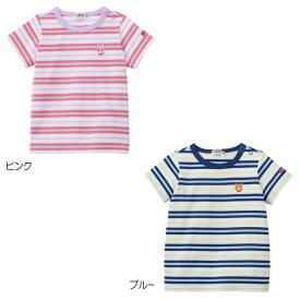 【2019サマーセール】ホットビスケッツ(HOT BISCUITS) マルチボーダー半袖Tシャツ(80〜110cm)