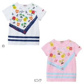 【2019サマーセール】ホットビスケッツ(HOT BISCUITS) バンダナプリント半袖Tシャツ(80〜110cm)