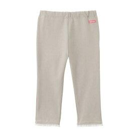 【セール】ミキハウス(MIKIHOUSE) 裾レース付きストレッチニットデニムパンツ(80〜130cm)