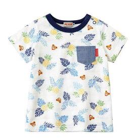 【2019サマーセール】ミキハウス(MIKIHOUSE) プッチートロピカル柄半袖Tシャツ(80cm、90cm、100cm)