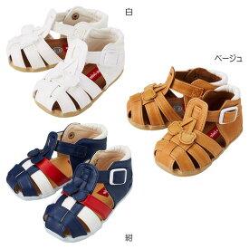 ミキハウス(MIKIHOUSE) つま先ガード☆やわらかベビーサンダル(子供靴)