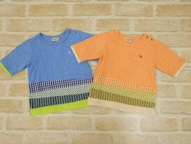 【2019サマーセール】ラグマート(RAG MART)裾パッチワーク風5分袖Tシャツ(100cm、110cm、120cm、130cm)
